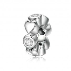 Sterling silver spacer Deep love