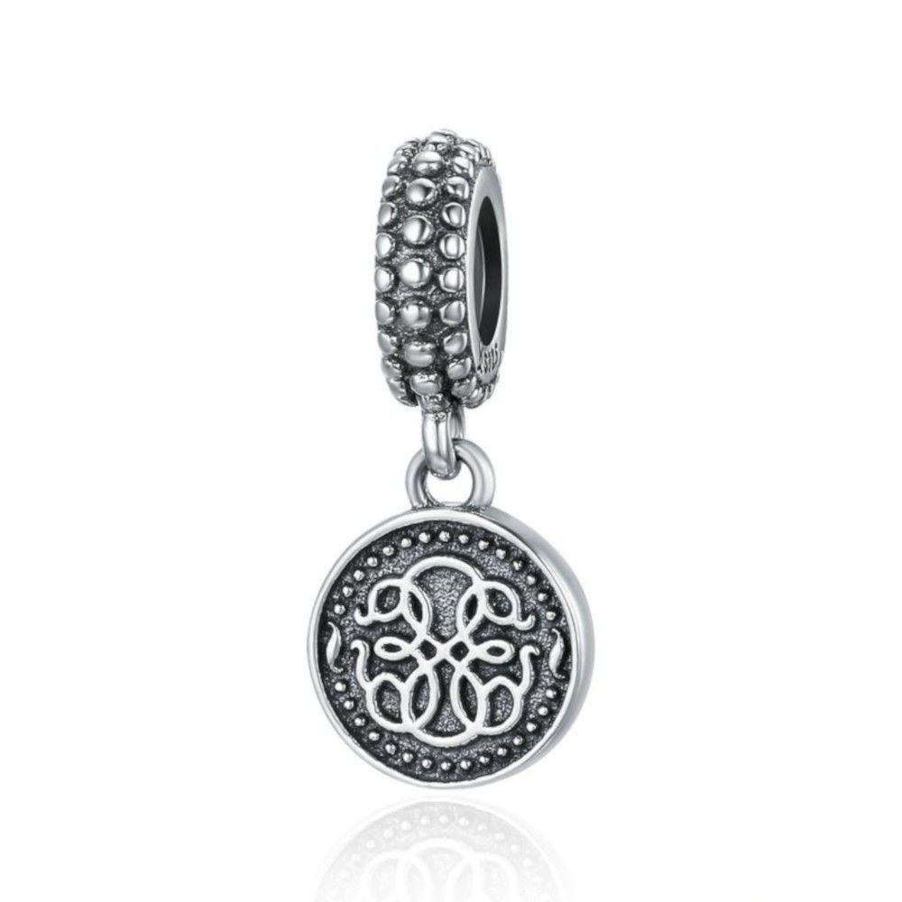 Zilveren hangende bedel Symbool van het leven