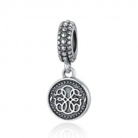 Sterling silver pendant charm Symbol of life