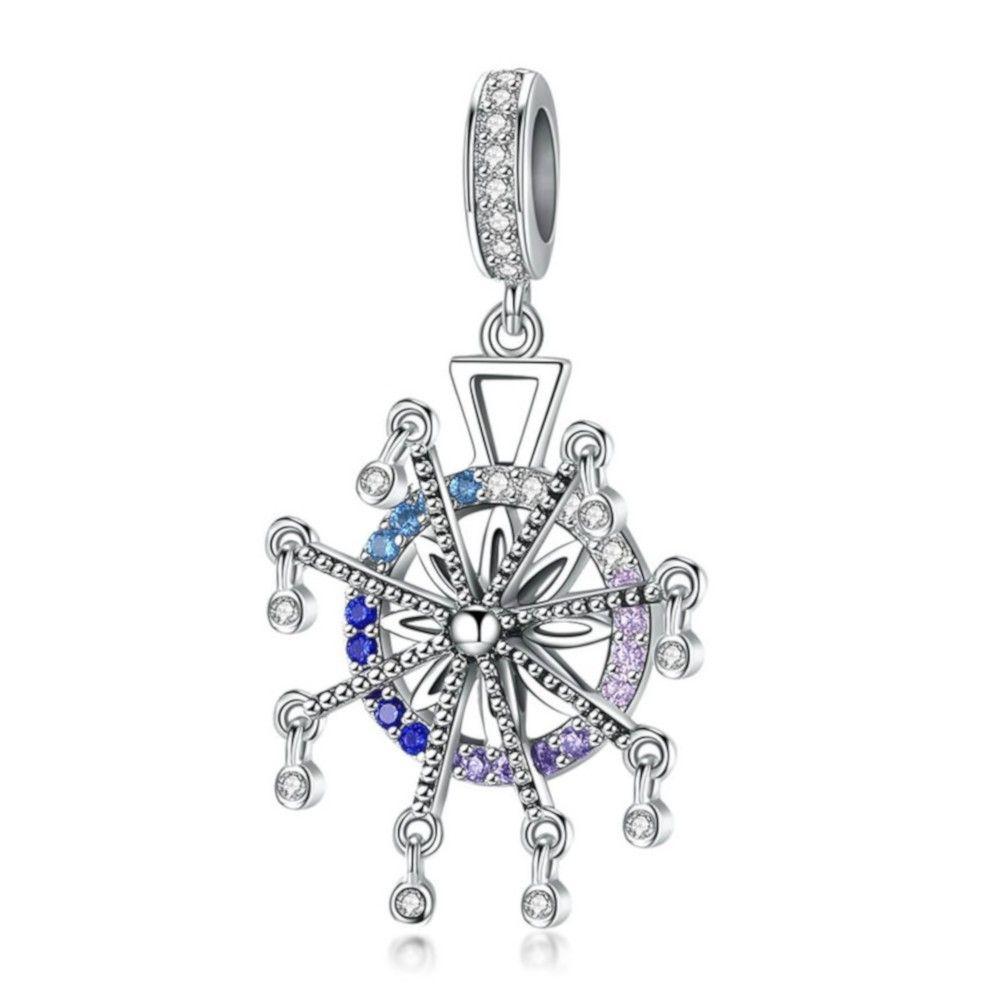 Sterling silver pendant charm Ferris wheel