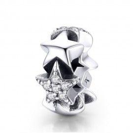 Zilveren spacer Kleine ster