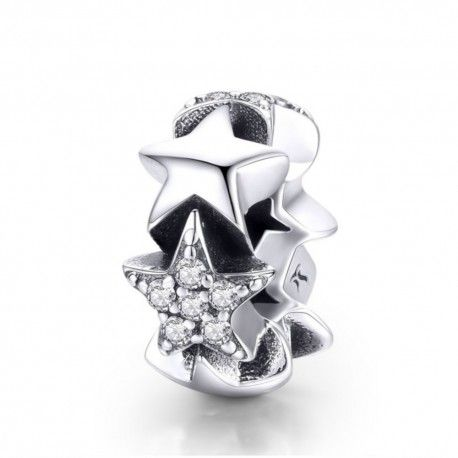 Sterling silver spacer Little star