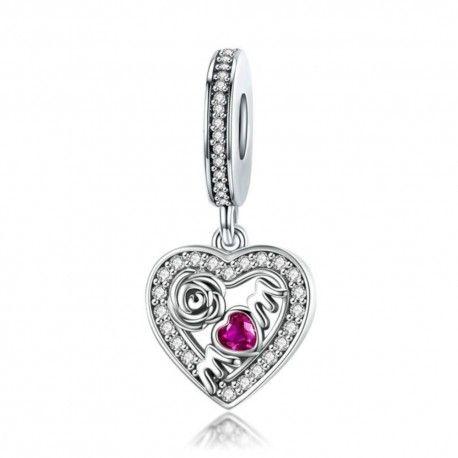 bracciale pandora donna cuore rosa argento