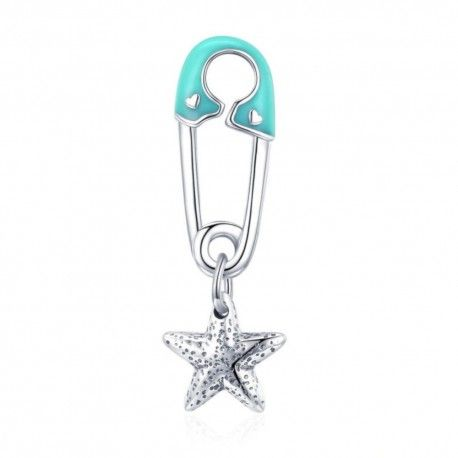 Sterling silver pendant charm Safety pin