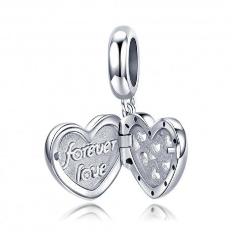 Zilveren hangende bedel Eeuwige liefde