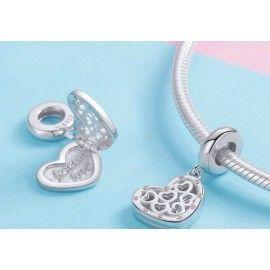 Sterling silver pendant charm Forever love