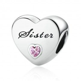 Sterling silver charm Sister