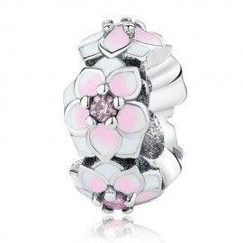 Sterling silver spacer Magnolia flower