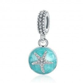 Sterling silver pendant charm Starfish