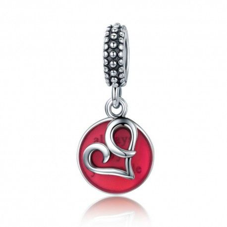 Sterling silver pendant charm Always by your side