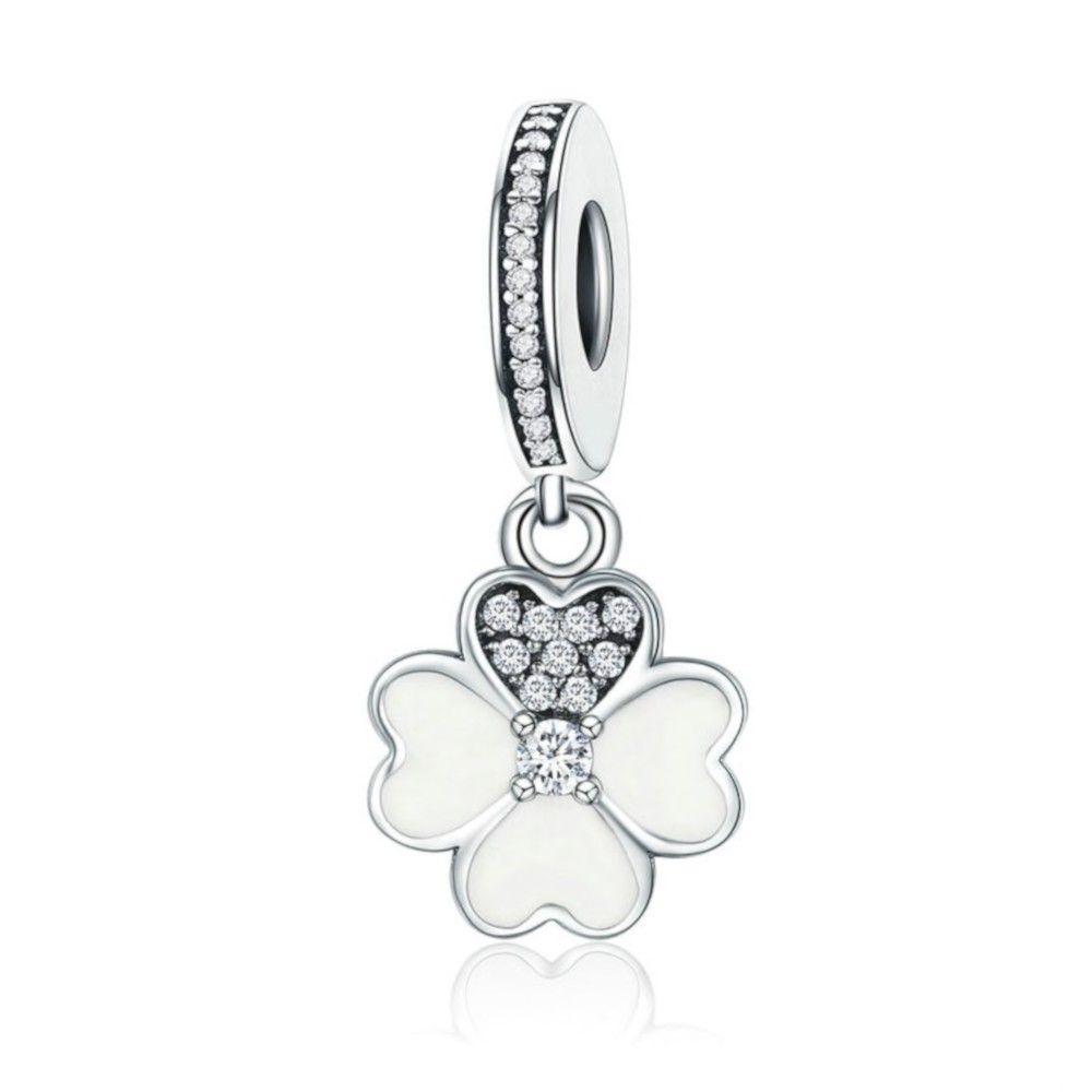 Sterling silver pendant charm 4 leaf clover