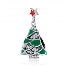 Sterling silver charm Christmas tree & star