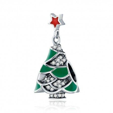 Sterling silver charm Christmas tree & star