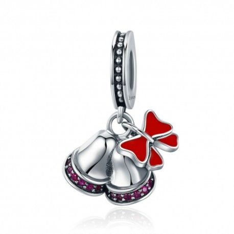 Sterling silver pendant charm Christmas bell