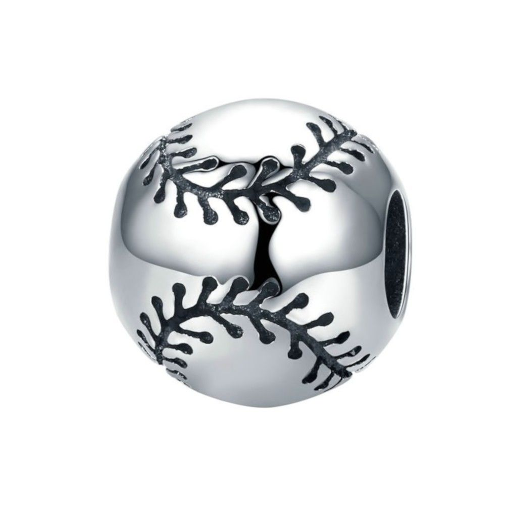 Sterling silver charm Baseball