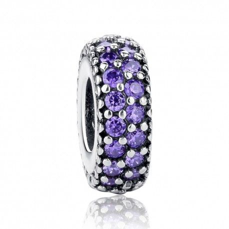 Sterling silver spacer Purple