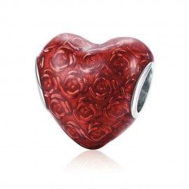 Zilveren bedel Valentijn hart