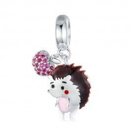 Sterling silver pendant charm Hedgehog