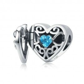 Sterling silver charm You are always in my heart