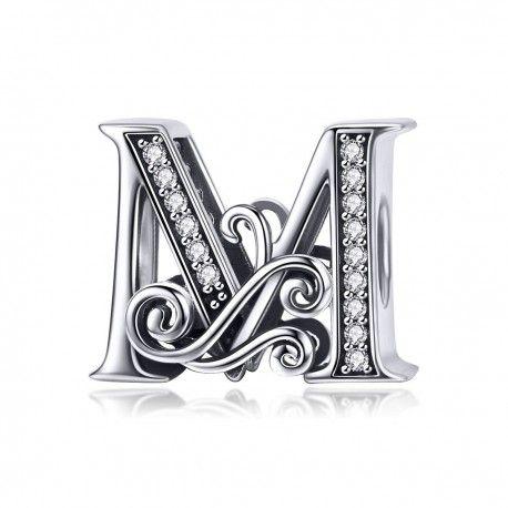 pandora charm lettere m