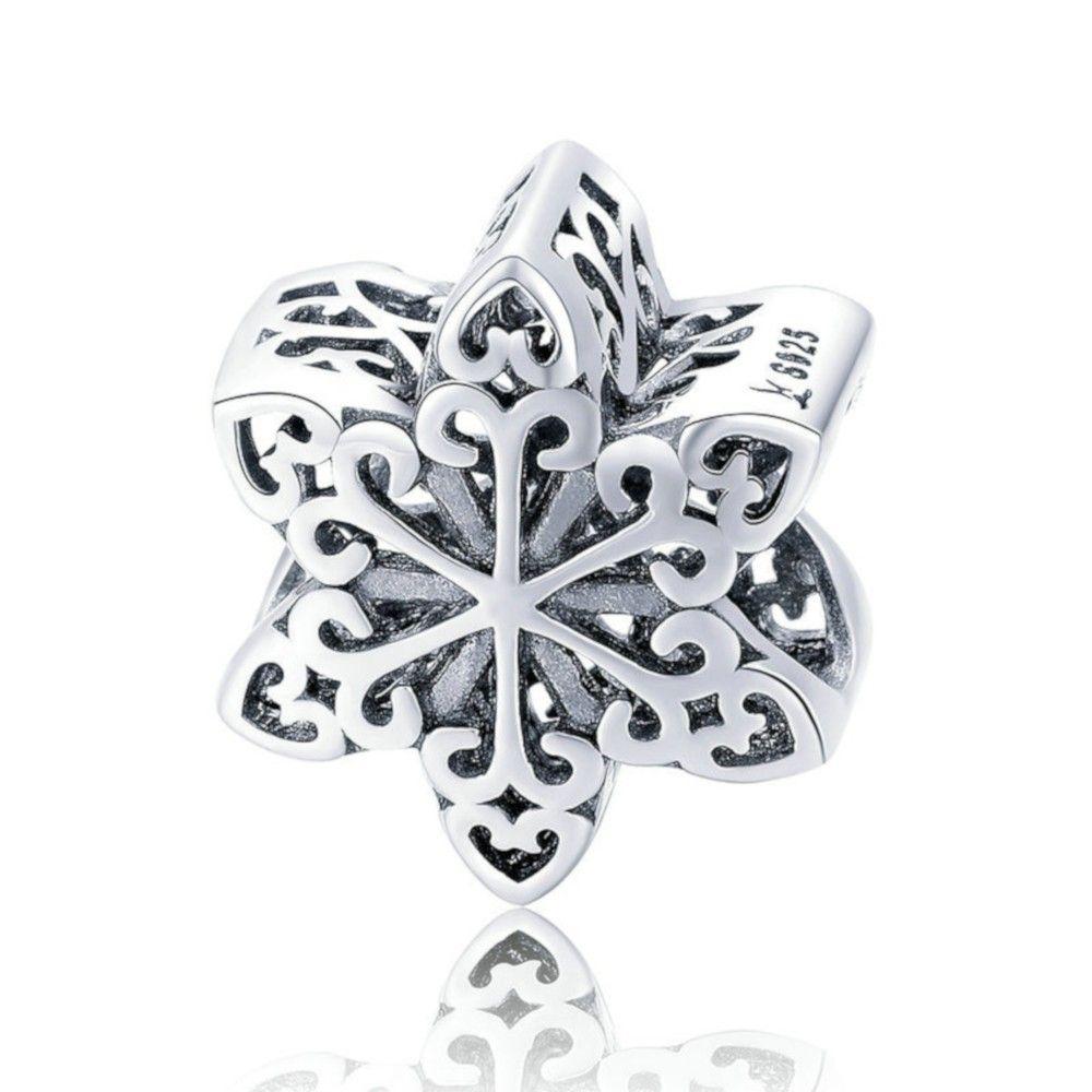 Sterling silver charm Elegant snowflake
