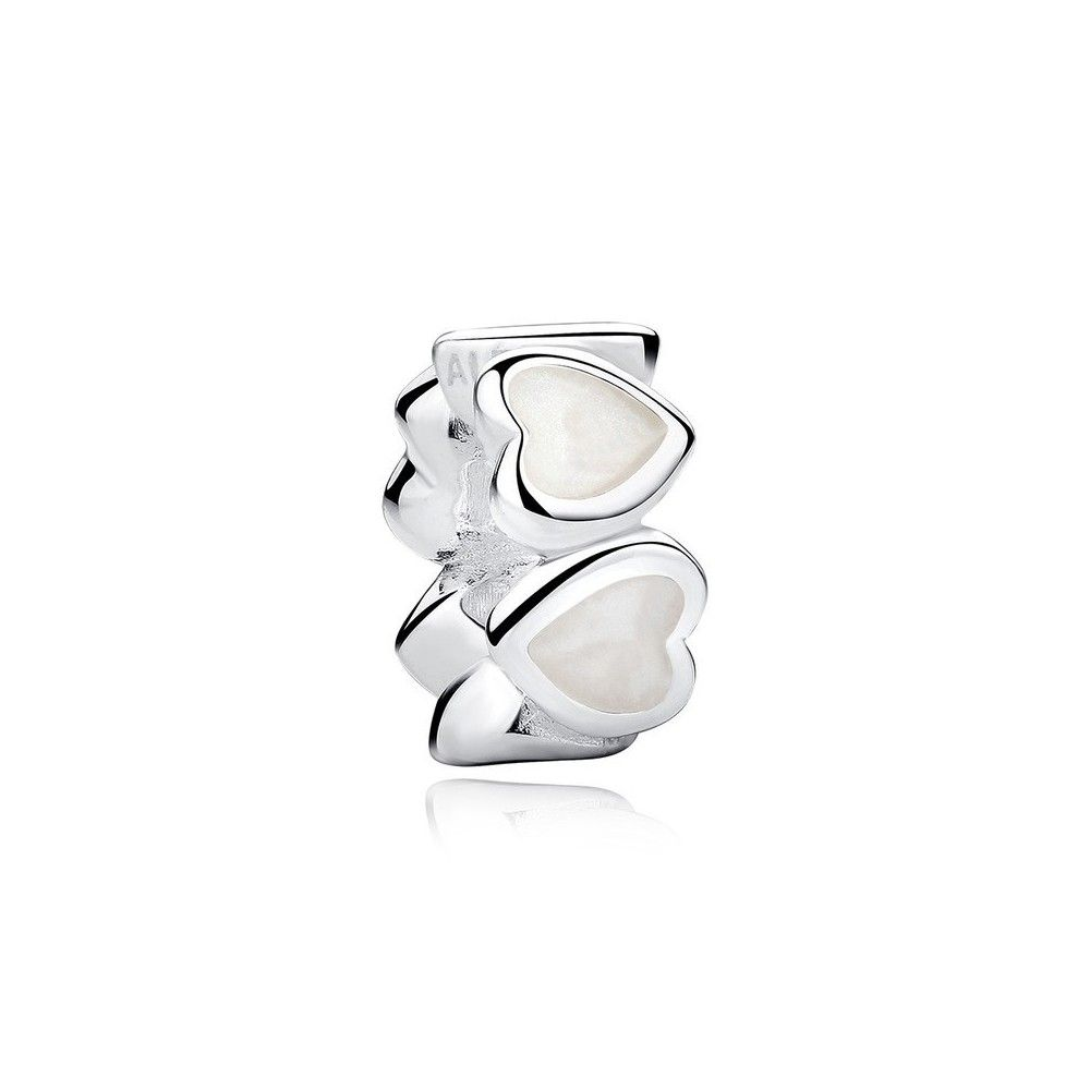 Sterling silver spacer Hearts