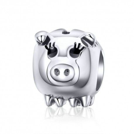 Sterling silver charm Piggy bank
