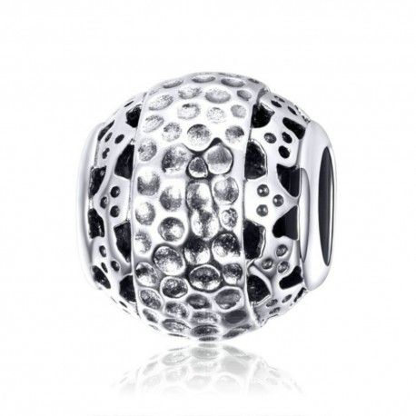 Sterling silver charm Dazzling ball