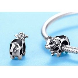 Sterling silver charm Cow