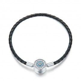 Bracelet en cuir tressé Magie mystérieuse