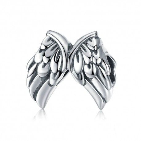Sterling silver charm Vintage angel wings