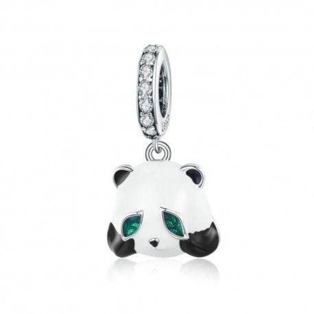 Zilveren hangende bedel Chinese panda