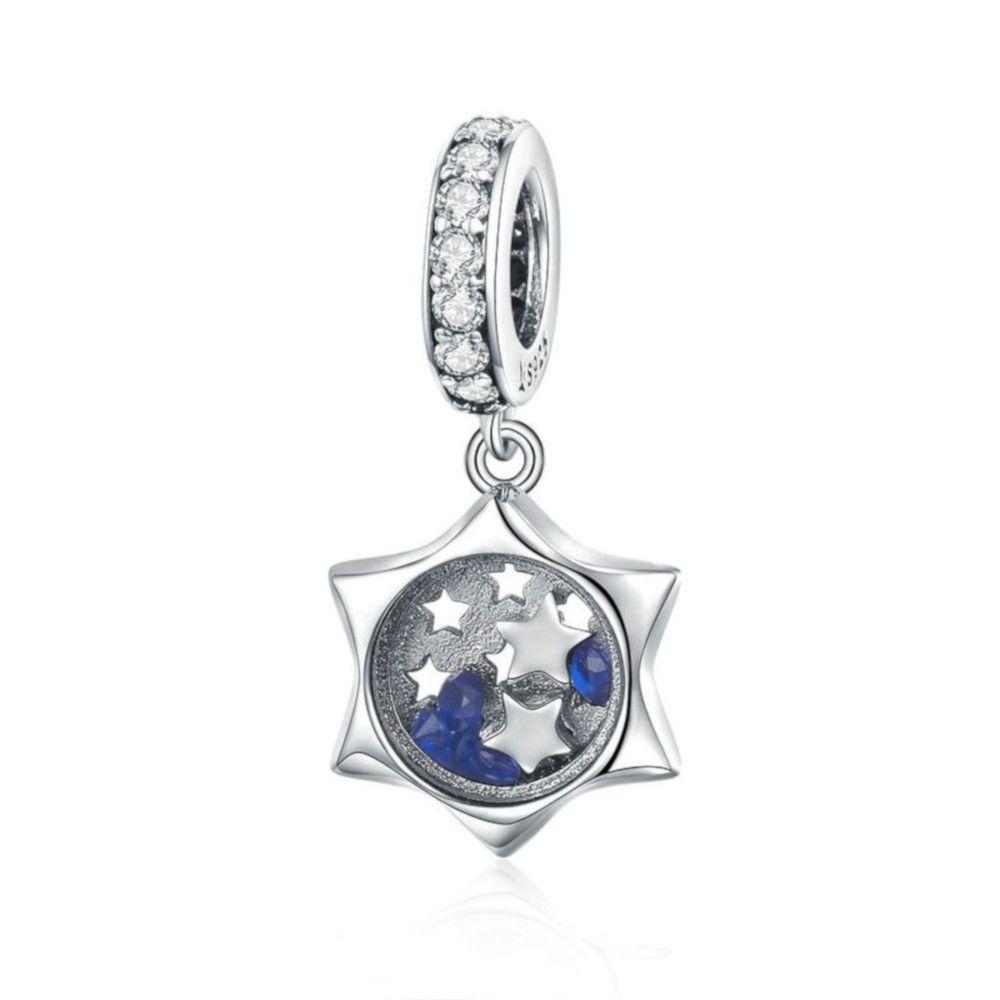 Zilveren hangende bedel Een wens voor een ster