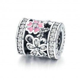 Sterling Silber Charm Gänseblümchen-Blumenrolle