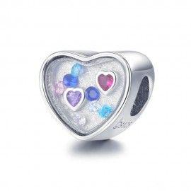 Zilveren bedel De ziel kan niet leven zonder liefde