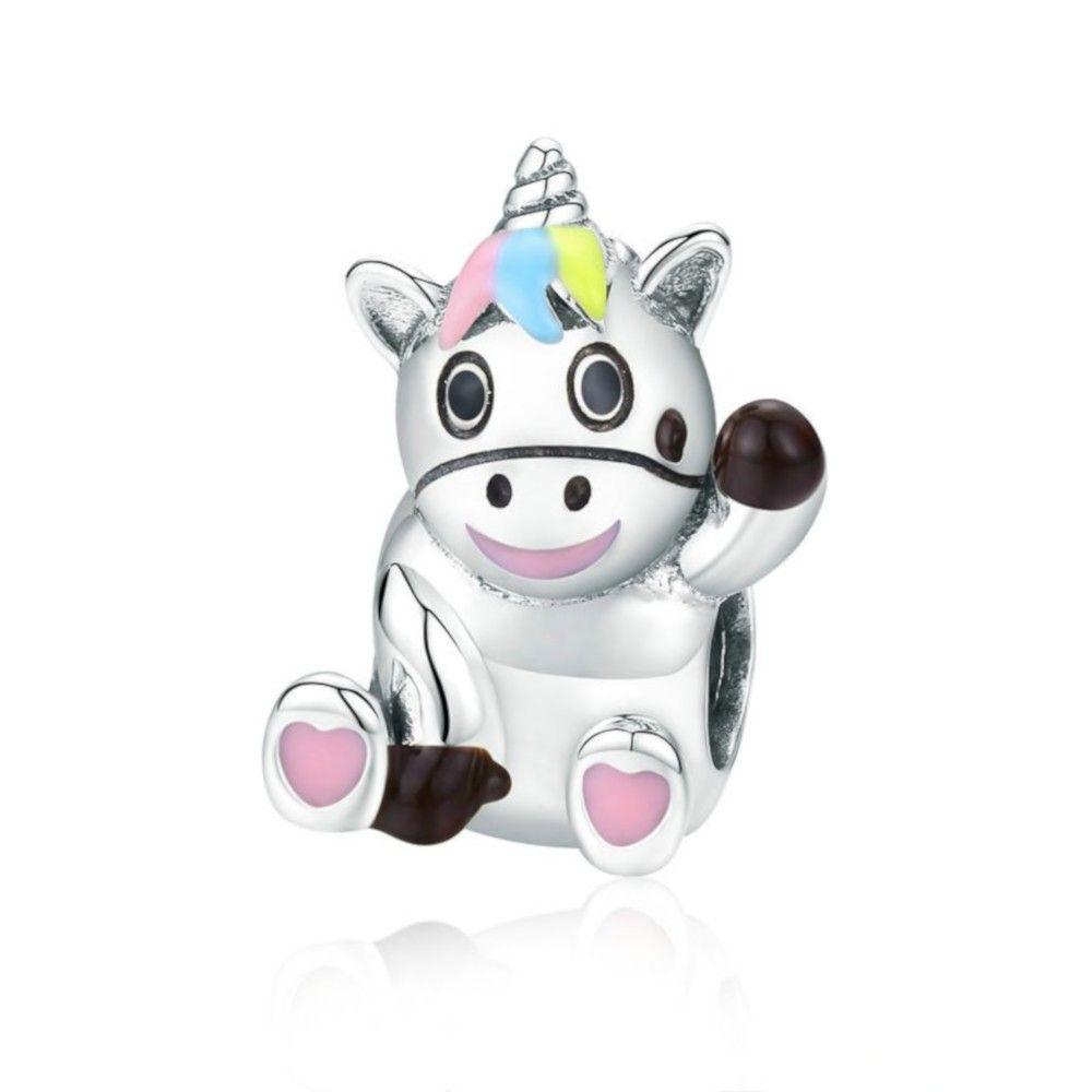 Sterling silver charm Cute unicorn