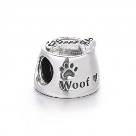 Sterling silver charm dog paw