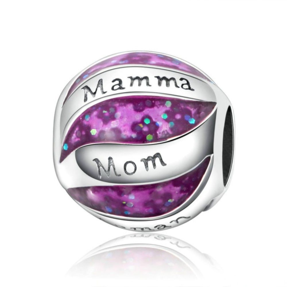 Sterling silver charm Ball with mom