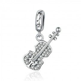 Sterling silver pendant charm Violin