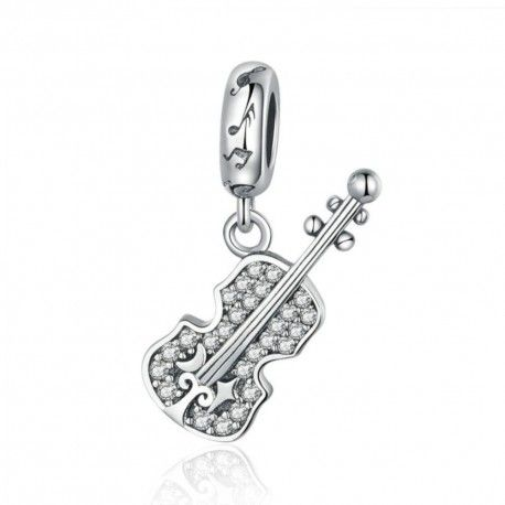 Sterling Silver Pendant Charm Violin