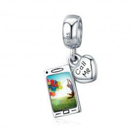 Charm pendentif en argent Téléphone portable