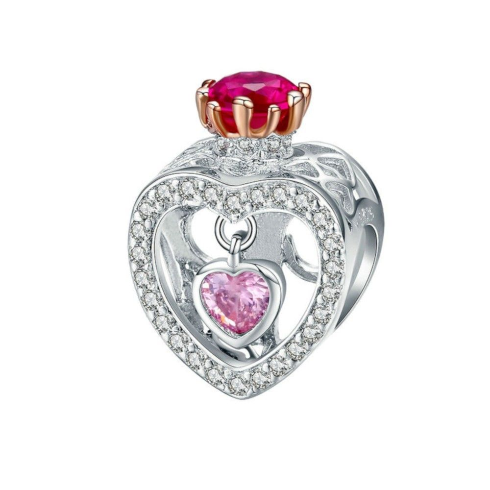 Sterling silver charm Queen & princess crown