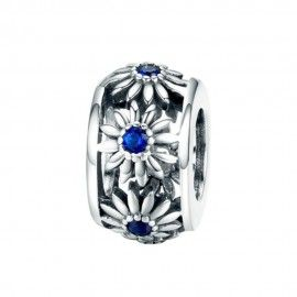 Sterling silver spacer Daisy
