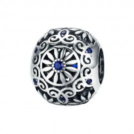Sterling silver charm Retro ball