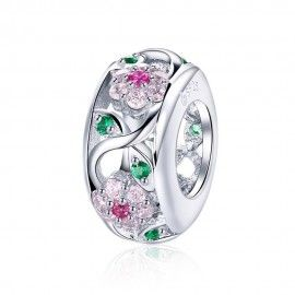 Separador romántico en plata de ley Flor