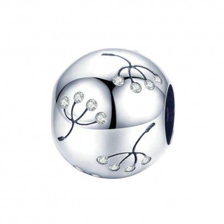 Sterling silver charm Dandelion