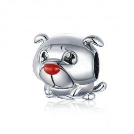 Zilveren bedel Franse bulldog