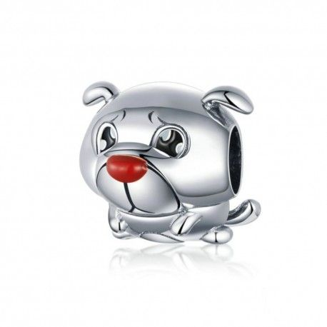 Sterling silver charm French bulldog