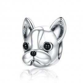 Sterling silver charm Cute French bulldog