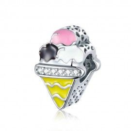 Sterling silver charm Ice cream
